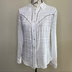 Chelsea & Violet button up long sleeve shirt